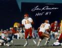 Len Dawson Autographed Kansas City 8x10 About To Pass Photo W/ HOF- JSA W Auth