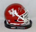 Greg Ward Autographed University of Houston Cougars Red Mini Helmet - JSA W Auth
