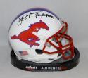 Eric Dickerson Signed SMU Mustangs Schutt Mini Helmet W/Pony Express- JSA W Auth