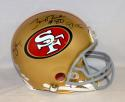 Joe Montana Jerry Rice Steve Young Signed 49ers F/S ProLine Helmet- JSA W Auth