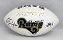 Eric Dickerson Autographed Los Angeles Rams Logo Football With HOF- JSA W Auth