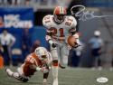 Deion Sanders Autographed Atlanta Falcons 8x10 Running Photo- JSA Witnessed Auth