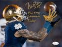Will Fuller Signed Notre Dame 8x10 Catch Photo W/ Play Like A Champ- JSA W Auth