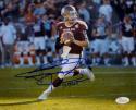 Johnny Manziel Signed Texas A&M 8x10 Looking To Pass Photo W/Heisman- JSA W Auth