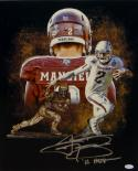 Johnny Manziel Autographed 16x20 A&M Heisman Trophy Photo W/ Heisman- JSA W Auth