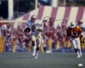 Deion Sanders Autographed 16x20 FSU Seminoles Running Photo- JSA W Authenticated