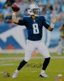 Marcus Mariota Autographed Titans 16x20 Passing PF Photo- JSA W Authenticated