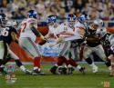 Eli Manning Autographed NY Giants 16x20 Avoiding Tackle Photo- Steiner Auth