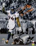DeMarcus Ware Signed Broncos 16x20 Sacking Cam PF Photo W/ SB Champs- JSA W Auth