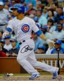 Willson Contreras Autographed Chicago Cubs 16x20 Swinging PF Photo- JSA W Auth