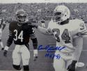 Earl Campbell Autographed 8x10 B&W With Walter Payton Photo W/ HOF- JSA W Auth