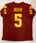 Reggie Bush Autographed Maroon College Style Jersey- JSA Witnessed Authenticated