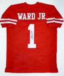 Greg Ward Autographed College Style Red Jersey- JSA Witnessed Authenticated