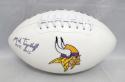 Mick Tingelhoff Autographed Minnesota Vikings Logo Football W/ HOF- JSA W Auth