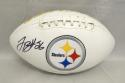 LeVeon Bell Autographed Pittsburgh Steelers Logo Football- JSA Authenticated