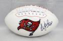 Warren Sapp Autographed Tampa Bay Buccaneers Logo Football- JSA Witnessed Auth