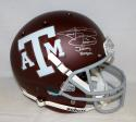 Johnny Manziel Signed A&M Aggies Maroon F/S Helmet W/Johnny Football- JSA W Auth