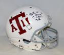 Johnny Manziel Signed A&M Aggies White F/S Helmet W/Johnny Football- JSA W Auth
