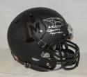 Johnny Manziel Signed A&M Aggies Black F/S Helmet W/Johnny Football- JSA W Auth