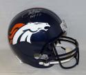 Terrell Davis Autographed Denver Broncos Full Size Helmet With HOF- JSA W Auth