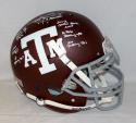 Johnny Manziel Signed Texas A&M Maroon F/S Authentic Helmet W/ Stats- JSA W Auth