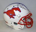 Dickerson McIlhenny James Pony Express Signed F/S SMU Authentic Helmet-JSA W Auth