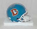 Terrell Davis Autographed Denver Broncos TB Mini Helmet with HOF and JSA W Auth