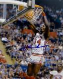 Hakeem Olajuwon Signed 8x10 Houston Cougars Dunking *Blue  JSA-Witness