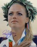 Jennie Finch Team USA 8x10 Close Up *Blue JSA Auth