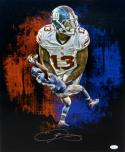 Odell Beckham Autographed NY Giants 16x20 Double Pose Vertical Photo- JSA Auth