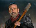 Jeffrey Dean Morgan Negan Signed Walking Dead 16x20 Close Up Photo- JSA W Auth