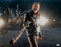 Jeffrey Dean Morgan Negan Signed Walking Dead 16x20 W/ Lucille Photo- JSA W Auth