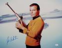 William Shatner Signed Star Trek 16x20 Photo *Blue Enterprise/Space Gun - JSA W Auth