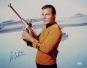 William Shatner Signed Star Trek 16x20 Photo *Blue Enterprise/Space Gun - JSA W Auth