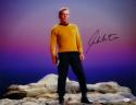 William Shatner Signed Star Trek 16x20 Standing on Rock *Blk/Right JSA W Auth
