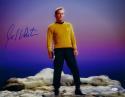 William Shatner Signed Star Trek 16x20 Standing on Rock *Blue/Left JSA W Auth