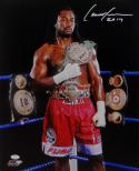 Lennox Lewis Autographed 16x20 with Belts PF Photo- JSA W Authenticated