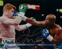 Floyd Mayweather Autographed 16x20 vs Canelo Alvarez Photo- Beckett Auth