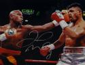 Floyd Mayweather Autographed 16x20 vs Victor Ortiz Photo- Beckett Auth