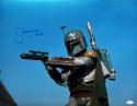 Jeremy Bulloch Signed Star Wars Boba Fett Blue Background 16x20 Photo JSA W Auth