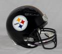 Hines Ward SB MVP Autographed *Silver Pittsburgh Steelers F/S Helmet- JSA W Auth