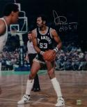 Artis Gilmore Signed Spurs 16x20 Looking to Pass Photo W/HOF- Jersey Source Auth