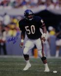 Mike Singletary Autographed Bears 16x20 HOF On Field *Vertical- JSA W Auth