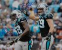 Luke Kuechly Thomas Davis Signed *Blue Carolina Panthers 16x20 Photo- JSA W Auth