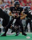 Kliff Kingsbury Signed Texas Tech 8x10 Playing in Black Jersey Photo- JSA W Auth