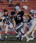 Howie Long Autographed Raiders 8x10 Against Chiefs Photo- JSA W Authenticated