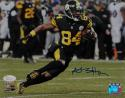 Antonio Brown Autographed Steelers 8x10 Horizontal Running PF Photo- JSA W Auth