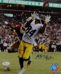 Antonio Brown Autographed Steelers 8x10 Catch vs Redskins PF Photo- JSA W Auth