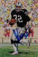 Marcus Allen Autographed Oakland Raiders Goal Line Art Card- JSA Auth