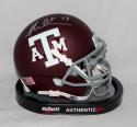 Mike Evans Autographed Texas A&M Aggies Maroon Mini Helmet *Silver - JSA W Auth